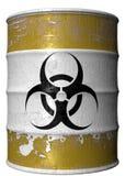 Barril de basura tóxica ilustración del vector