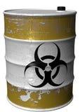 Barril de basura tóxica girado Fotos de archivo libres de regalías