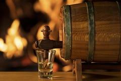 Barril de Cachaça, bebida brasileña Foto de archivo libre de regalías