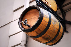 Barril de cerveja de madeira Foto de Stock Royalty Free