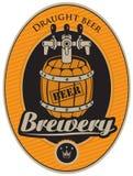 Barril de cerveza stock de ilustración