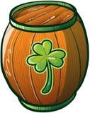 Barril de cerveza del día de Patricks del santo Fotos de archivo libres de regalías