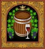 Barril de la bandera de la cerveza que hace publicidad del vino Foto de archivo libre de regalías