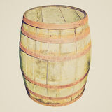 Barril de madeira do tambor do olhar retro fotografia de stock royalty free