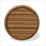 Barril de madera con las fibras Fotos de archivo libres de regalías