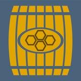 Barril de madera del ejemplo Imagen de archivo