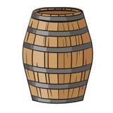 Barril de madera dos Imagen de archivo libre de regalías