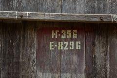 Barril de madera para el vino con el anillo de acero, Georgia imagen de archivo libre de regalías