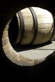 Barril de madera para el vino de la media Fotos de archivo libres de regalías