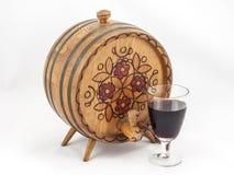 Barril de madera para una vid Imagen de archivo libre de regalías
