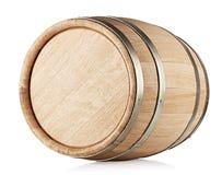 Barril de madera que miente en su lado Fotos de archivo
