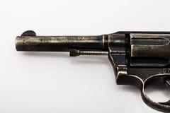 Barril de viejo revólver Imágenes de archivo libres de regalías
