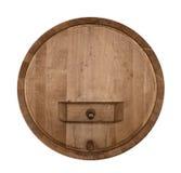 Barril de vinho frontal imagens de stock