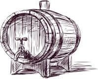 Barril de vino ilustración del vector