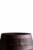Barril de vino aislado en blanco fotografía de archivo libre de regalías