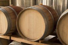 Barril de vino de madera Imagenes de archivo