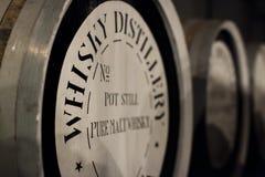 Barril del roble del whisky fotos de archivo