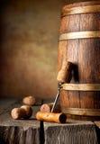 Barril e corkscrew Imagens de Stock Royalty Free