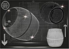 Barril en un fondo negro Imagen de archivo libre de regalías