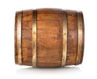 Barril hecho de la madera Fotografía de archivo
