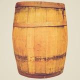 Barril retro do tambor do vinho ou de cerveja do olhar fotografia de stock