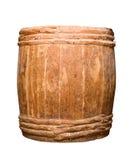 Barril totalmente de madera viejo Foto de archivo