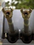 Barriles antiaéreos del tanque Imagen de archivo