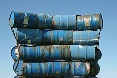 Barriles azules Imagen de archivo libre de regalías