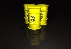Barriles con los desechos radioactivos Imagenes de archivo