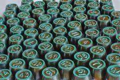 Barriles con los números para jugar la loteria Imágenes de archivo libres de regalías