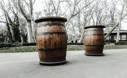 Barriles de alcohol Foto de archivo libre de regalías