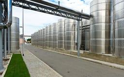 Barriles de aluminio modernos fotografía de archivo