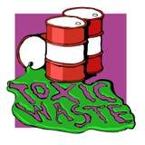 Barriles de basura tóxica Imagen de archivo libre de regalías