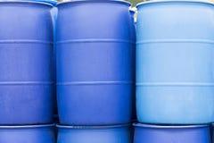 Barriles de Big Blue Foto de archivo libre de regalías