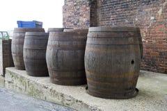 Barriles de cerveza imágenes de archivo libres de regalías