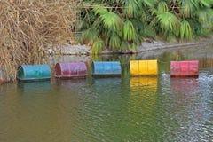 Barriles de la basura tóxica Imagen de archivo