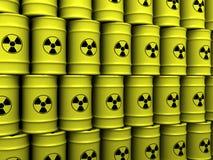 Barriles de la basura tóxica Foto de archivo libre de regalías