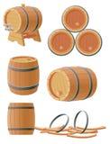 Barriles de madera Fotos de archivo libres de regalías