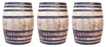 Barriles de madera Foto de archivo