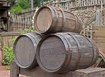 Barriles de madera Foto de archivo libre de regalías