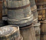 Barriles de madera del bastón de la antigüedad Imagenes de archivo