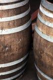 Barriles de madera del roble Fotografía de archivo