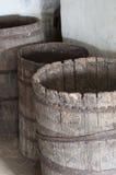 Barriles de madera viejos Foto de archivo libre de regalías