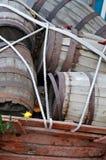 Barriles de madera viejos Fotografía de archivo libre de regalías