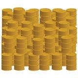 Barriles de oro Imagenes de archivo