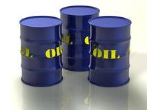 Barriles de petróleo stock de ilustración