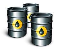 Barriles de petróleo Fotografía de archivo libre de regalías