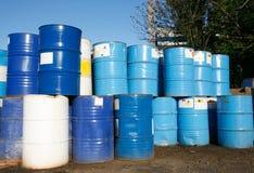 Barriles de petróleo Imágenes de archivo libres de regalías