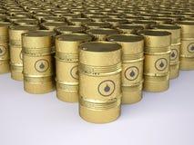 Barriles de petróleo oxidados Fotos de archivo libres de regalías