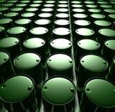 Barriles de petróleo verdes stock de ilustración